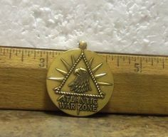 United States Merchant Marine – Atlantic War Zone Medal without Drape (Ribbon)