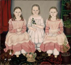 American Paintings Highlights | Museum of Fine Arts, BostonLICENSE THIS IMAGE The Lincoln Children 1845 Susan Catherine Moore Waters (American, 1823–1900 American)