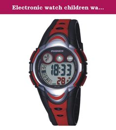 Electronic watch children watch / Girls Boys Watches / waterproof sports watch / running high school students watch-red. Watches Mirror Material: plexiglass mirror Movement Type: Electronic Watch Type: Children Style: Cute Strap Material: Rubber Shape: Round display: digital waterproof depth: 30 meters life waterproof additional features: 24 hours indicates the calendar alarm table debit formula: buckle bottom of the table type: crown type: dial thickness: 14mm dial diameter: 41mm pop...