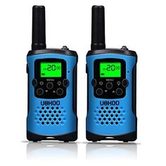 Kids Walkie Talkies, UOKOO 4-Mile Range 22-Channel FRS/GMRS Pair of Walkie Talkies for Kids Toys (1 Pair) Blue. For product info go to:  https://all4hiking.com/products/kids-walkie-talkies-uokoo-4-mile-range-22-channel-frsgmrs-pair-of-walkie-talkies-for-kids-toys-1-pair-blue/