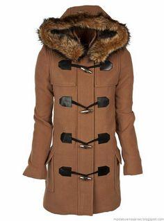 Abrigos invierno 2012. Camperas, tapados, sacos y Montgomerys.