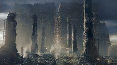 Golem City Reveal, Frédéric Bennett on ArtStation at https://www.artstation.com/artwork/ADqNo