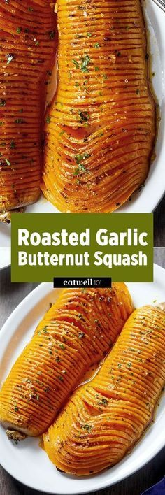 Roasted Garlic Butternut Squash — Impress your guests with this striking side dish for Thanksgiving! : Roasted Garlic Butternut Squash — Impress your guests with this striking side dish for Thanksgiving! Side Dish Recipes, Vegetable Recipes, Vegetarian Recipes, Cooking Recipes, Healthy Recipes, Budget Cooking, Fast Recipes, Lunch Recipes, Braai Recipes