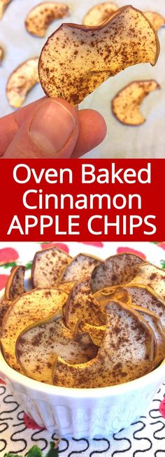 I love these homemade cinnamon apple chips! SO HEALTHY AND YUMMY! So easy to make in the oven! Perfect healthy snack!!! Baked Cinnamon Apples, Cinnamon Apple Chips, Healthy Chips, Healthy Snacks To Make, Healthy Deserts, Healthy Treats, Healthy Drinks, Real Food Recipes, Snack Recipes