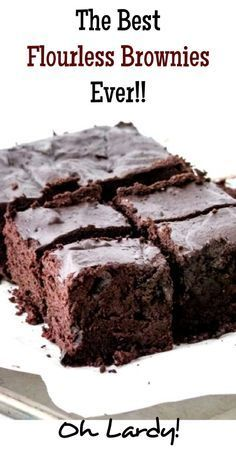 ~Flourless Brownies - www.ohlardy.com. eggs, cocoa powder, maple syrup, coconut oil, vanilla extract, salt