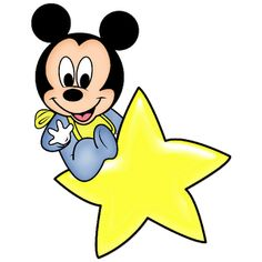 Baby Mickey Mouse - Cartoon Clip Art