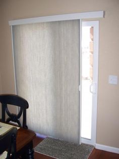 Woven Woods Keep A Room Feeling So Bright Love The Use Of Them On - Window coverings for patio doors
