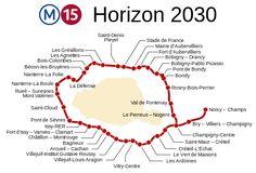 36 stations irrégulièrement espacées, formant une boucle autour de Paris à une distance de cinq kilomètres environ, prolongée à l'est de Champigny jusqu'à Noisy – Champs