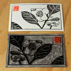 TBFF on Etsy + Monotypes as a Learning Tool (Mike Schultz - Lino printmaking) Stamp Printing, Screen Printing, Linocut Prints, Art Prints, Block Prints, Lino Art, Impression Textile, Linoprint, Art Graphique