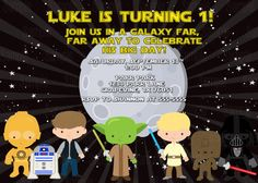 Star Wars Birthday Greeting Free ~ Star wars characters birthday invitation 5x7 boy birthday party