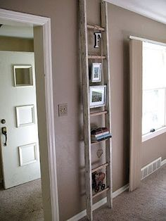 Shabby Chic Decoupage Ladder- Gives you the how to do it's to get this project out of the garage and on the wall.