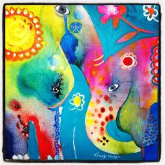 LOVE.ART.INSPRIATION another creation painting - Little Creatures series; fabulous...