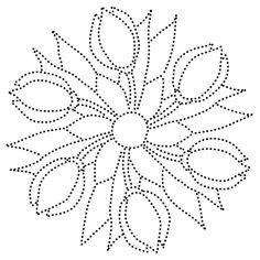 De leerlingen kunnen d.m.v. het tekenen van tulpen een mandala maken (groep 5). Het tekenen van de tulpen gaat volgens het objectief waarnemen.