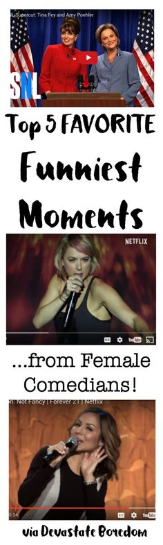 These videos are hilarious! Top 5 FUNNIEST Moments from Female Comedians - Iliza Shlesinger, Anjulah Johnson, Tina Fey, and Amy Poehler! via Devastate Boredom