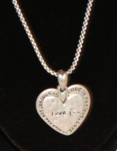 Love Is Heart Necklace Silver Tone Picture Photo Locket Style Adjustable Chain #Unbranded #Locket