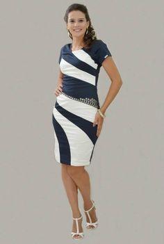 Vestido Recortes - Moda Evangélica e Roupa Evangélica: Bela Loba