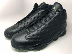 c231d6d890175a Nike Air Jordan 13 Retro XIII Black   Altitude Green 414571 042 mens size  11.5