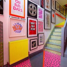 The Low Down on DIY Stairs Rainbow Gallery Wall Exposed Don't think you should make your home look to be an igloo unless you would like to. If you wis. Painted Radiator, Painted Stairs, Neon Painting, Painting Canvas, Room Decor, Wall Decor, Aesthetic Rooms, Home And Deco, Home Design
