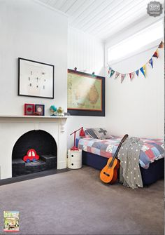 Homes: Eternal sunshine. Clipped from Home Beautiful using Netpage. Big Boy Bedrooms, Girls Bedroom, Bedroom Ideas, Shared Boys Rooms, Kids Rooms, Kids Decor, Home Decor, Spare Room, New Room
