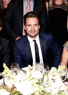 "sebastiansource: "" Sebastian Stan attends The Skin Cancer Foundation's Champions for Change Gala in New York City on October 18, 2016 """