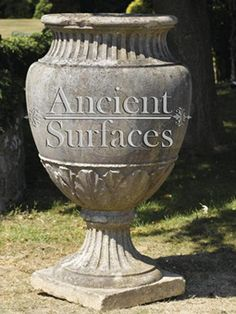 Antique Stone Planters and Pedestals by Ancient Surfaces Stone Fireplace Mantel, Stone Planters, Living Environment, Pedestal, Garden Furniture, 21st Century, Landscape Design, Outdoor Living, Pottery