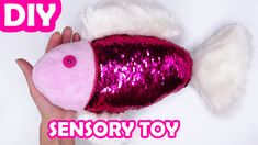 This DIY tutorial is how I sew a sensory sequin and fur toy for my 2 year old child. Diy Sensory Toys, Diy Toys, Creative People, My Children, Diy Tutorial, Easy Crafts, Kitten, Sequins, Crafty