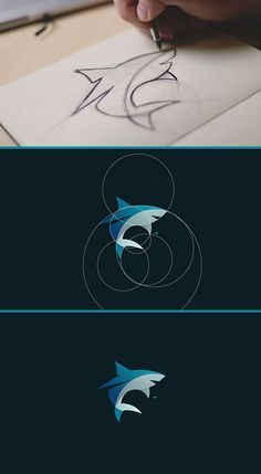 Tiburon solo circulos http://jrstudioweb.com/diseno-grafico/diseno-de-logotipos/