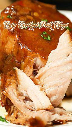 Easy Crockpot Pork Chops