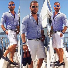 """A nice outfit to match with the """"Blue Alberts"""" and hit those Yacht Parties"""