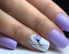 Semi-permanent varnish, false nails, patches: which manicure to choose? - My Nails Fancy Nails, Trendy Nails, My Nails, Purple Manicure, Manicure E Pedicure, Lilac Nails Design, Lavender Nails, Nagellack Trends, Super Nails