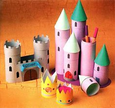Castillos con tubos de cartón