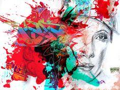 Yossi kotler art-beauté et émerveillement, portrait. giclée embellie