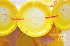 Paper plate banner at a Sunshine Party #sunshine #party