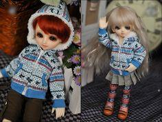 1/6 BJD yosd doll outfit printed pattern jacket coat dollfie Luts AI DZ #M3-69