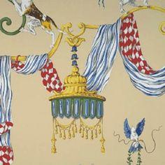 Scalamandre VENETIAN CARNIVAL BEIGE Wallpaper