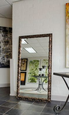 Enhance Your Room Beauty with Large Floor Mirror Custom Framed Mirrors, Decorative Bathroom Mirrors, Bathroom Wall, Framed Wall, Wall Art, Mirror Without Frame, Contemporary Wall Mirrors, Photos