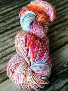 Superwash Merino Sock Yarn Kettle Dyed  100g by blissfulknitsyarn