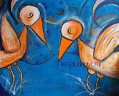 Vogelvlucht, acryl on canvas