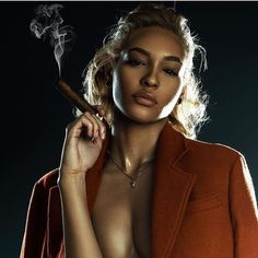 She smokes too. Cigars And Women, Women Smoking Cigars, Smoking Ladies, Cigar Smoking, Girl Smoking, Cigar Tube, Cigar Girl, Good Cigars, Up In Smoke