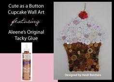 Aleenes Cute as a Button Cupcake Wall Art by Heidi Borchers