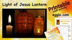 Light of Jesus Lantern-FREE craft activity to help kids see the light of Jesus this season. Includes How-To guide, printable cross template, and Bible verses about light. Egglo creates activities to encourage children's lasting relationship with Jesus, like our glow-in-the-dark egg hunt.