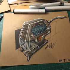 Knock The Thanksgiving Rust Off - - - #auburn #auburnindd #industrialdesign #productdesign #design #copic #copicmarkers #markers #id #idsketching #jigsaw #tool #tools #sketchoftheday #sketch #sketchbook #markerart