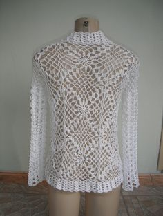 Crochet Blouse, Crochet Top, Turtle Neck, Lace, Pattern, Sweaters, How To Make, Jackets, Tops