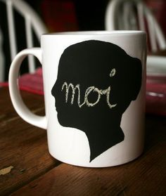 Chalkboard paint on boring mugs. How excellent would this be if you had a group of knitters over for Brunch? Also like the idea of spraying it on Wine glasses for parties.