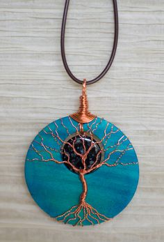 Tree of Life pendant Copper Wire Wrapped by RecycledBeautifully, $40.00