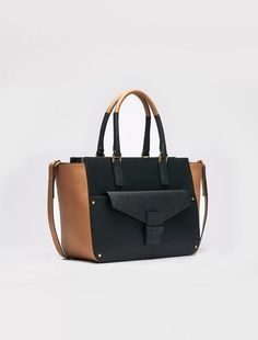 Tote bag with saffiano finish
