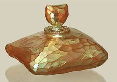 Chameleon Glass — Gold pillow bottle... Fabulous sheen and just Irresistible.   B,