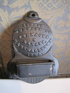 Cast Iron Matchbox Holder Lennox Furnace Co by missmarilynmonroe, $24.50