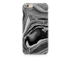black marble look iphone case on etsy