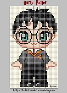 Harry Potter cross stitch. I used to do cross stitches all the time when I was in elementary school. And I LOVE Harry Potter.